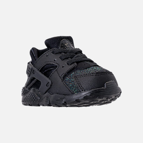 Three Quarter view of Girls' Toddler Nike Huarache Run SE Casual Shoes