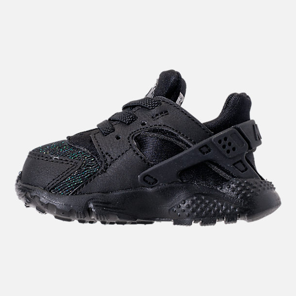 Left view of Girls' Toddler Nike Huarache Run SE Running Shoes