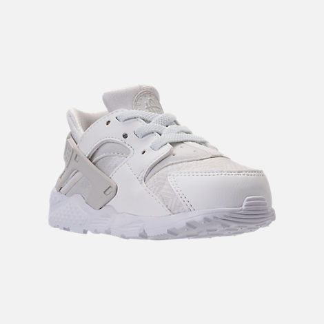 06b9b20c61430 ... Three Quarter view of Girls Toddler Nike Huarache Run SE Running Shoes  in Summit White ...