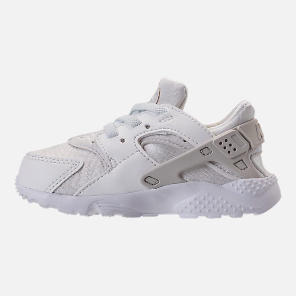 b113943a9ff0e ... Left view of Girls Toddler Nike Huarache Run SE Running Shoes in Summit  White ...