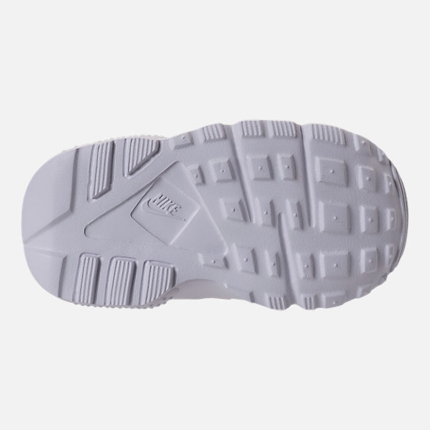 Bottom view of Girls' Toddler Nike Huarache Run SE Running Shoes in Prism Pink/White