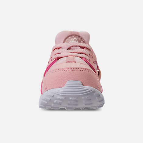 Front view of Girls' Toddler Nike Huarache Run SE Casual Shoes