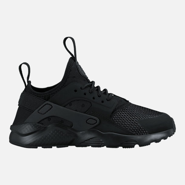 Right view of Boys' Preschool Nike Air Huarache Run Ultra Casual Shoes in Black/Black/Black