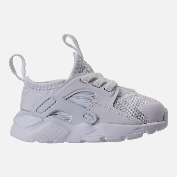 Right view of Kids' Toddler Nike Air Huarache Run Ultra Casual Shoes in White/White/White