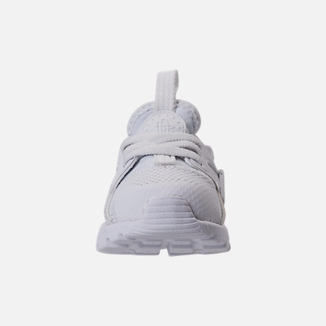 Front view of Kids' Toddler Nike Air Huarache Run Ultra Casual Shoes in White/White/White