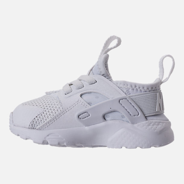 Left view of Kids' Toddler Nike Air Huarache Run Ultra Casual Shoes in White/White/White