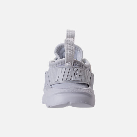 Back view of Kids' Toddler Nike Air Huarache Run Ultra Casual Shoes in White/White/White
