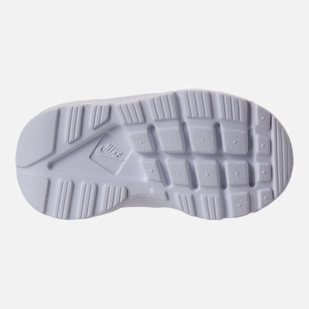 Bottom view of Kids' Toddler Nike Air Huarache Run Ultra Casual Shoes in White/White/White