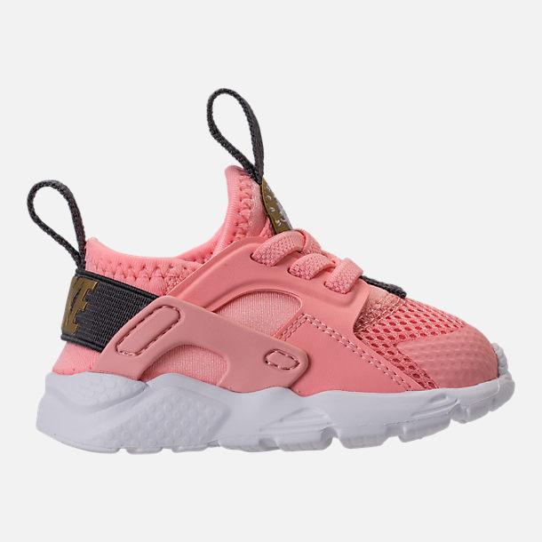a6cb57c8f4cfb ... Right view of Girls Toddler Nike Air Huarache Run Ultra Casual Shoes in  Bleached Coral ...