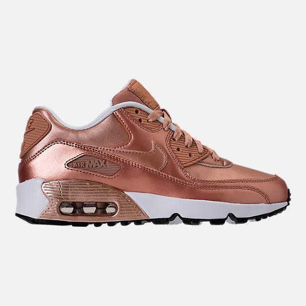 girls' grade school nike air max 90 mesh running shoes