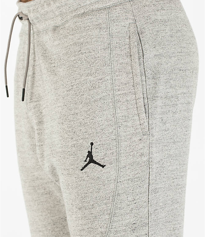 Detail 1 view of Men's Air Jordan Wings Fleece Jogger Pants in Dark Grey