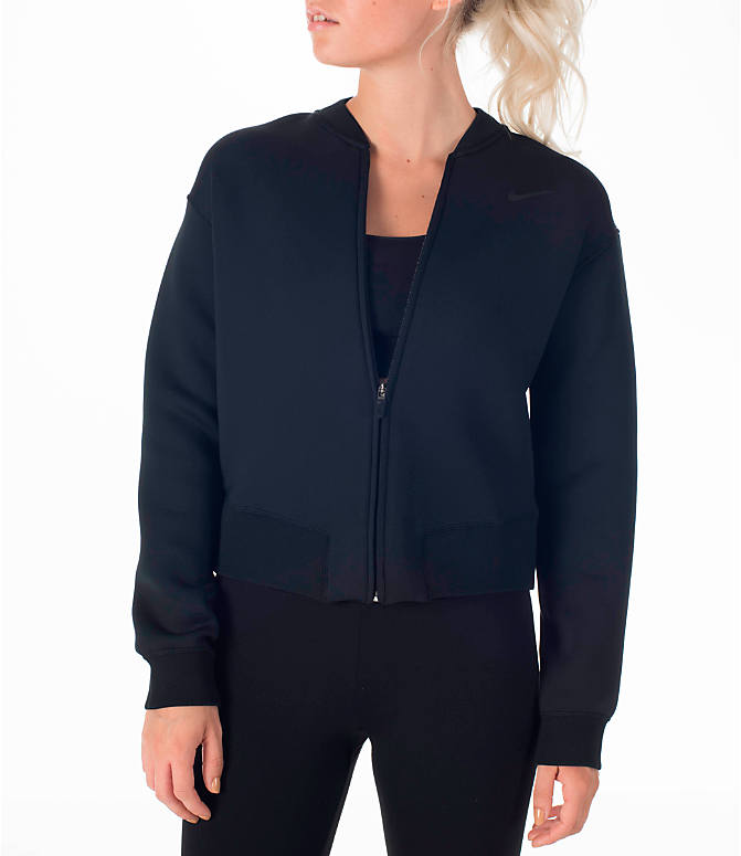 Front view of Women's Nike Therma Sphere Training Jacket in Black