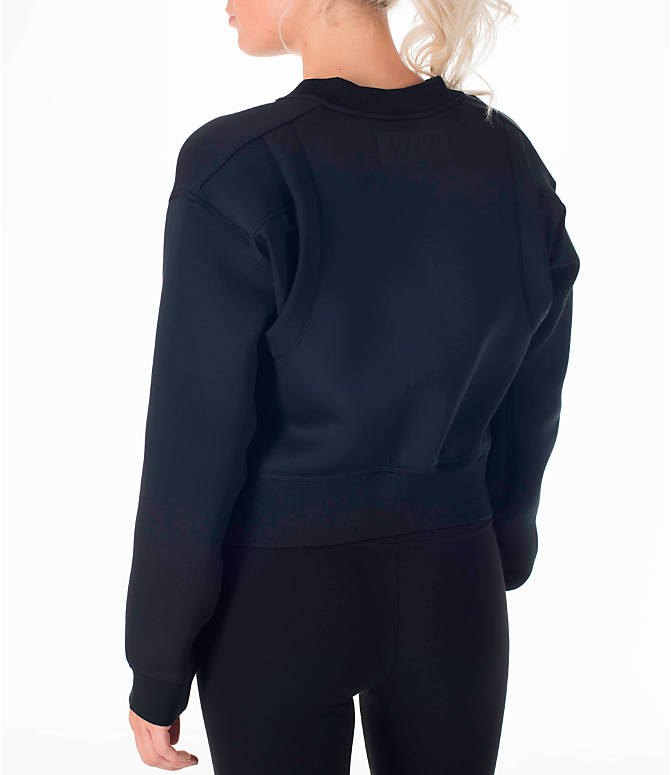 Back Left view of Women's Nike Therma Sphere Training Jacket in Black