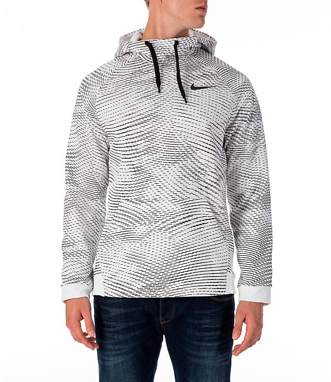 Front view of Men's Nike Therma Storm Training Hoodie in White