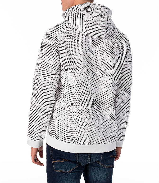 Back Left view of Men's Nike Therma Storm Training Hoodie in White