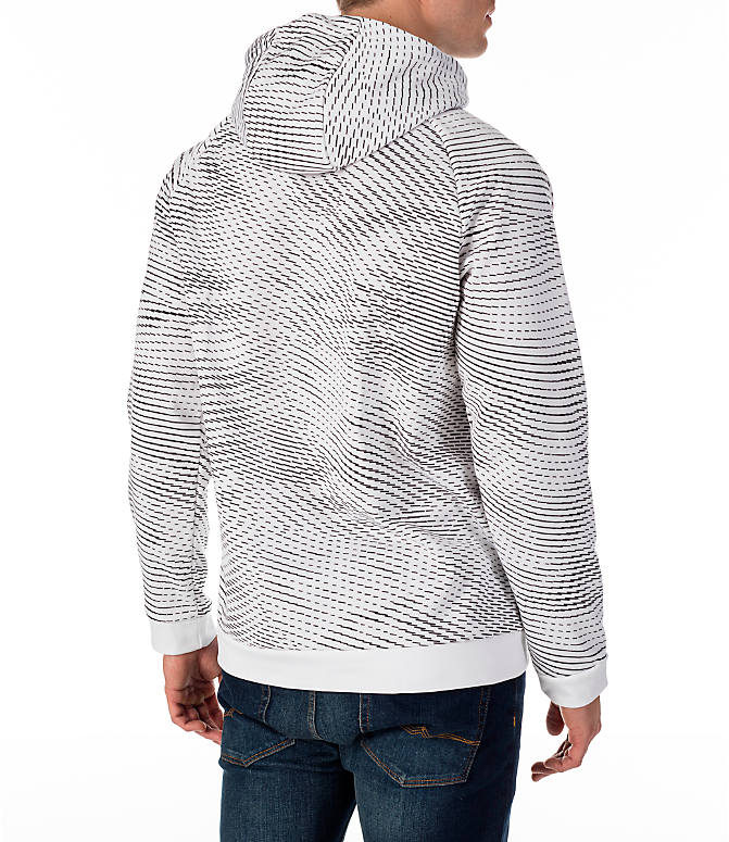 Back Right view of Men's Nike Therma Storm Training Hoodie in White
