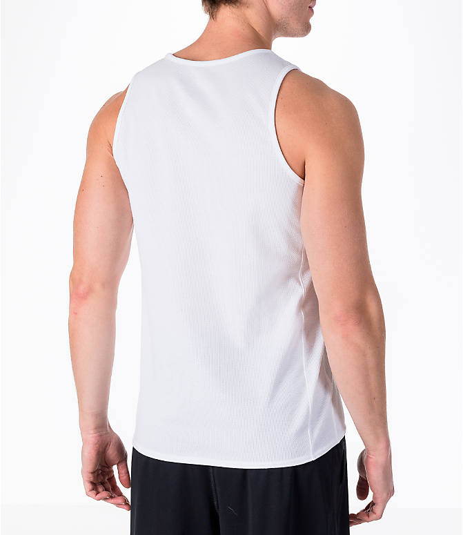 Back Right view of Men's Air Jordan Rise Basketball Tank in White