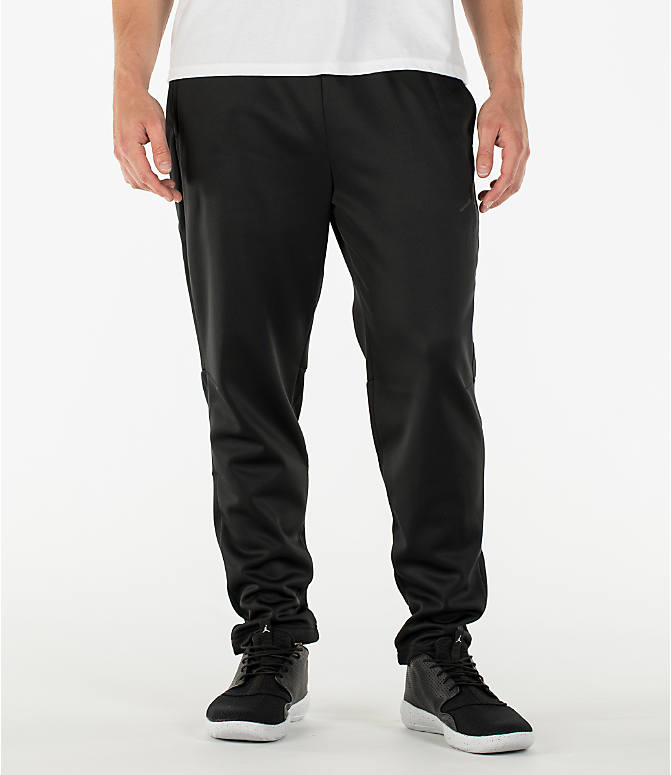 Front view of Men's Air Jordan 23 Alpha Therma Training Pants in Black