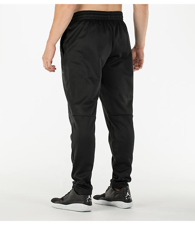 Back Left view of Men's Air Jordan 23 Alpha Therma Training Pants in Black