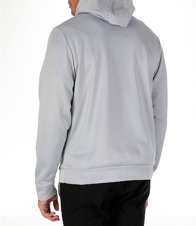Back Left view of Men's Air Jordan Therma 23 Alpha Training Hoodie in Wolf Grey