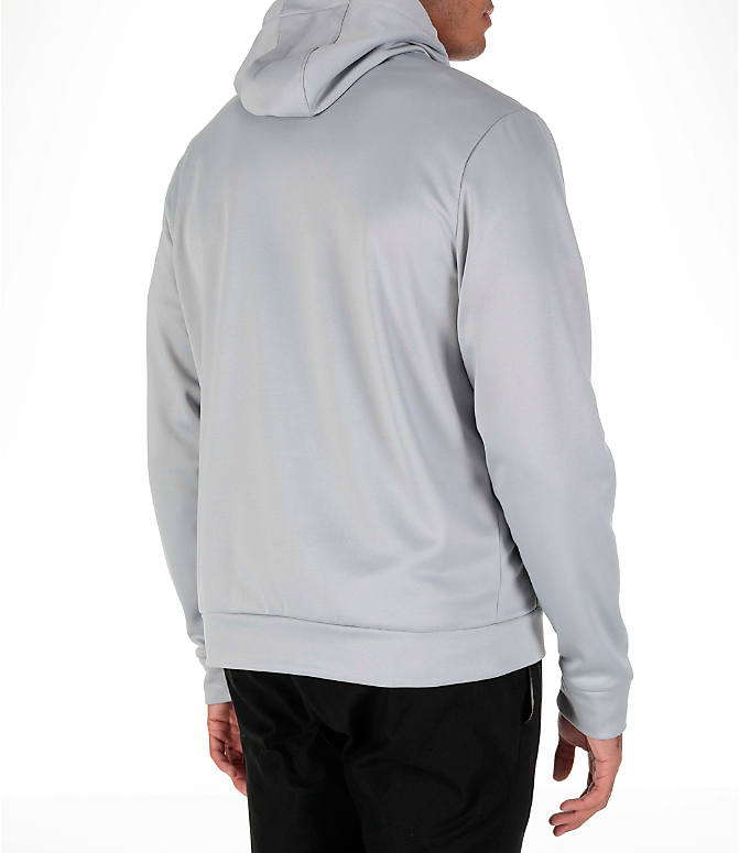 Back Right view of Men's Air Jordan Therma 23 Alpha Training Hoodie in Wolf Grey