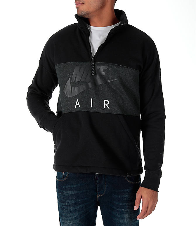 Front view of Men's Nike Air Half-Zip Shirt in Black