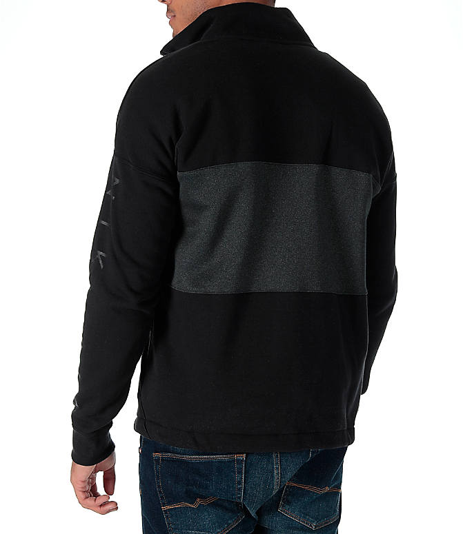 Back Left view of Men's Nike Air Half-Zip Shirt in Black