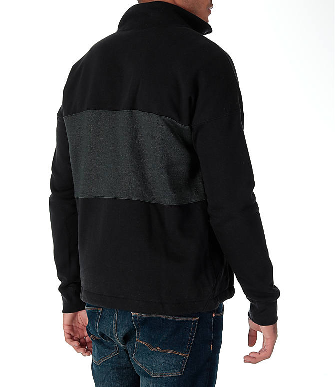 Back Right view of Men's Nike Air Half-Zip Shirt in Black