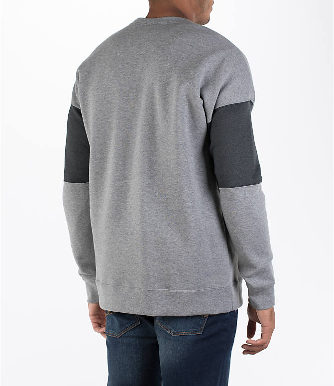 Back Right view of Men's Nike Air Crew Sweatshirt in Carbon Heather