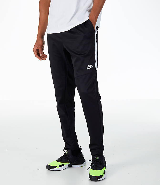 Front view of Men's Nike Sportswear N98 Pants in Black/White