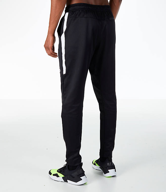 Back Left view of Men's Nike Sportswear N98 Pants in Black/White