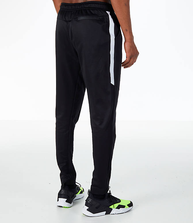 Back Right view of Men's Nike Sportswear N98 Pants in Black/White