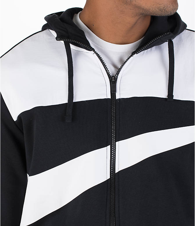 Detail 1 view of Men's Nike Hybrid Full-Zip Hoodie in Black