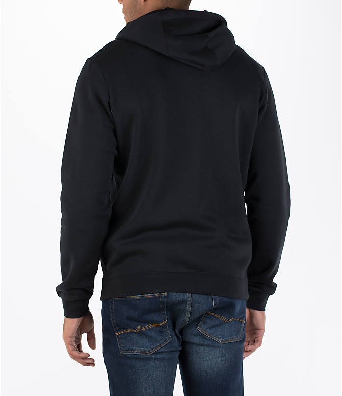 Back Left view of Men's Nike Hybrid Full-Zip Hoodie in Black