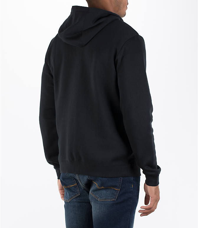 Back Right view of Men's Nike Hybrid Full-Zip Hoodie in Black