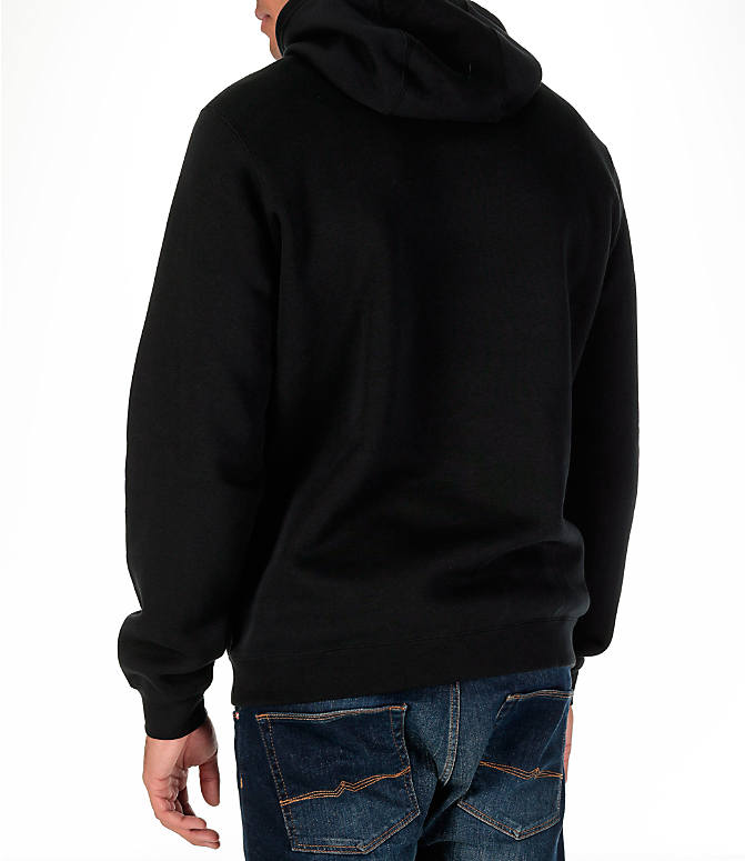 Back Left view of Men's Nike Sportswear Club Graphic Hoodie in Black
