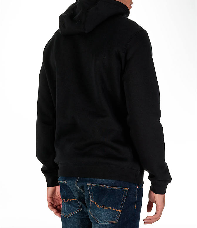 Back Right view of Men's Nike Sportswear Club Graphic Hoodie in Black