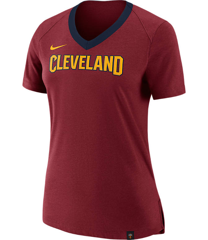 Front view of Women's Nike Cleveland Cavaliers NBA Basketball Fan Top in Team Red/Team Red