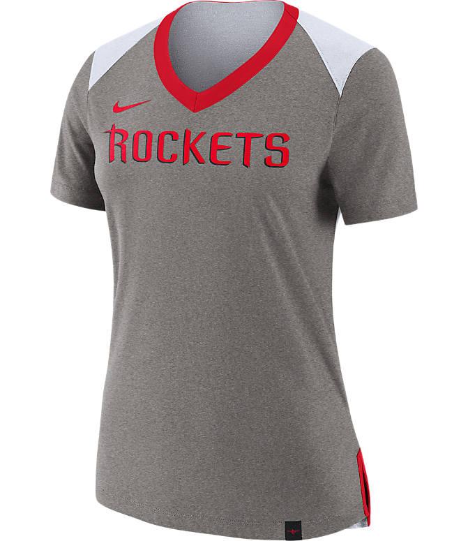 e67bf33d2729 front view of womens nike houston rockets nba basketball fan top in dark  grey heather