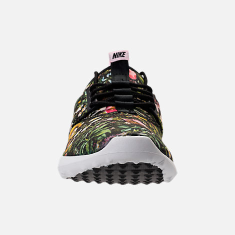 Front view of Women's Nike Juvenate SE Casual Shoes in Black/Summit White/Prism Pink