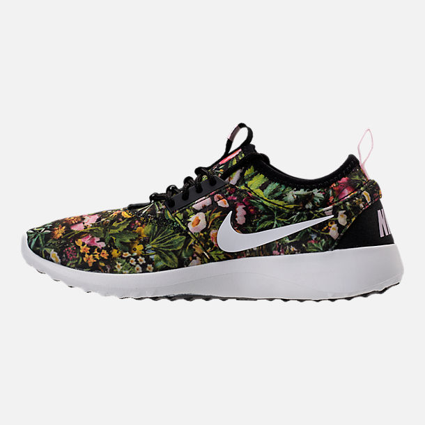 Left view of Women's Nike Juvenate SE Casual Shoes in Black/Summit White/Prism Pink