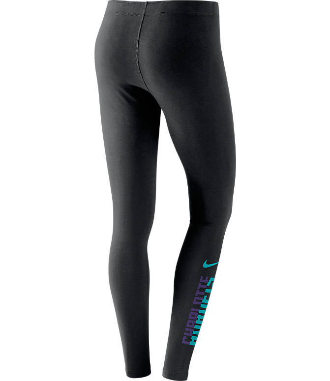 Back view of Women's Jordan Charlotte Hornets NBA Leg-A-See Tights in Black/Team