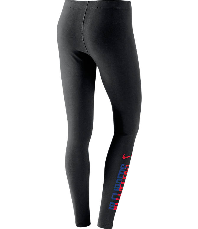 Back view of Women's Nike Los Angeles Clippers NBA Leg-A-See Tights in Black/Team