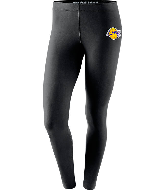 Front view of Women's Nike Los Angeles Lakers NBA Leg-A-See Tights in Black/Team