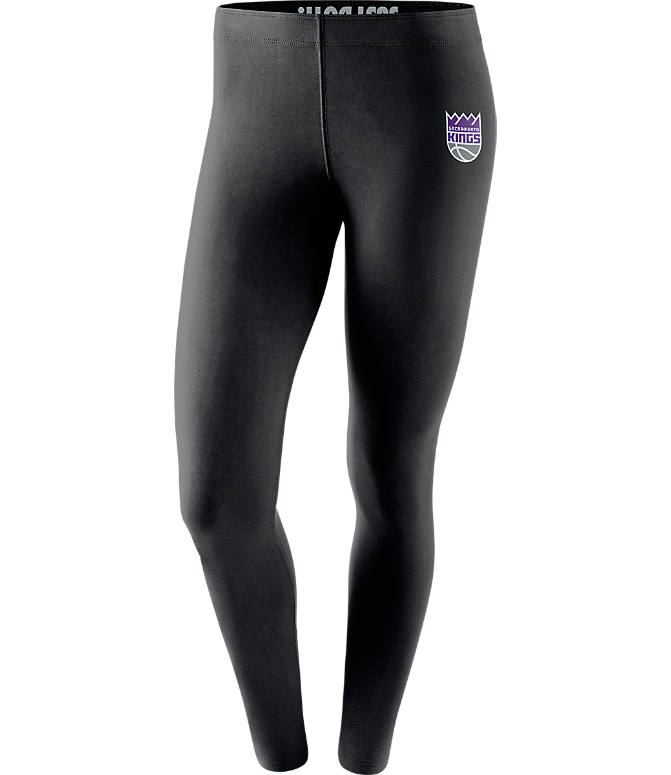 Front view of Women's Nike Sacramento Kings NBA Leg-A-See Tights in Black/Team
