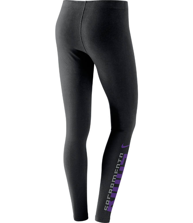 Back view of Women's Nike Sacramento Kings NBA Leg-A-See Tights in Black/Team