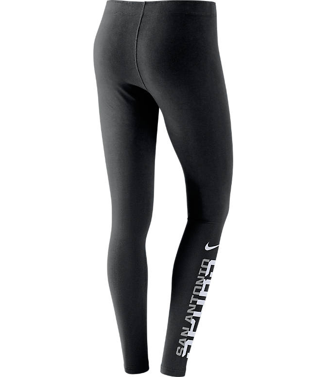 Back view of Women's Nike San Antonio Spurs NBA Leg-A-See Tights in Black/Team