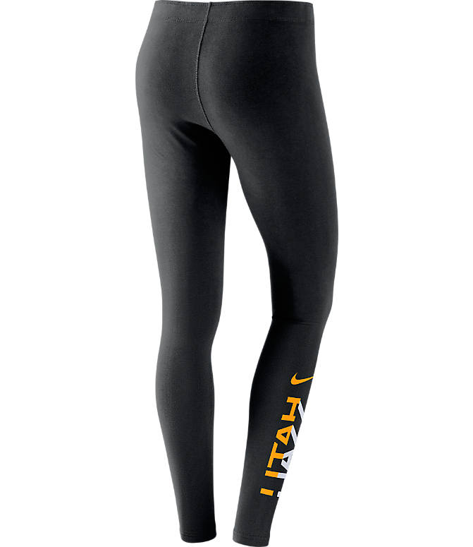 Back view of Women's Nike Utah Jazz NBA Leg-A-See Tights in Black/Team