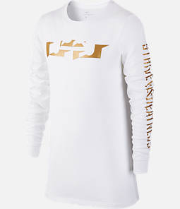Boys' Nike Dry LeBron Logo Long-Sleeve T-Shirt