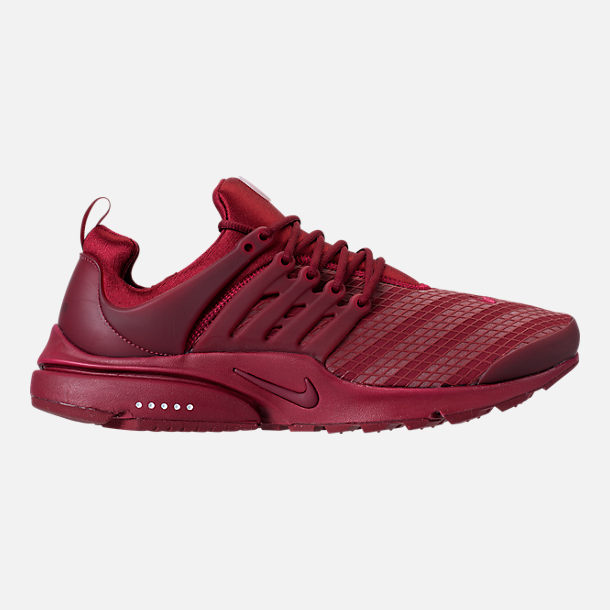 Right view of Men's Nike Air Presto Low Utility Casual Shoes in Team Red/White